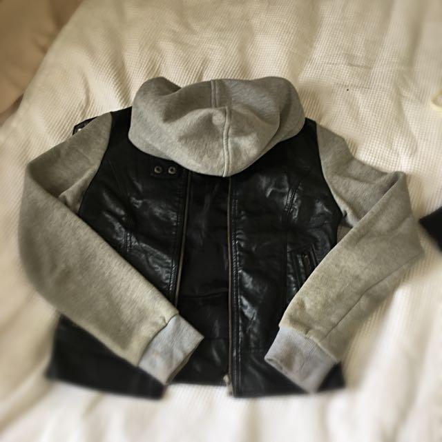 Leather/cotton Jacket