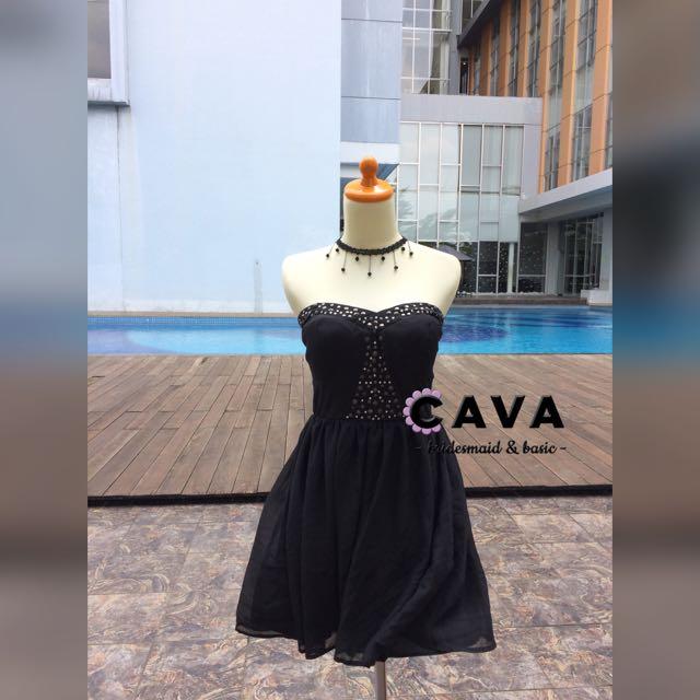 Little Black Dress Gaun Pesta Party Dress Hitam