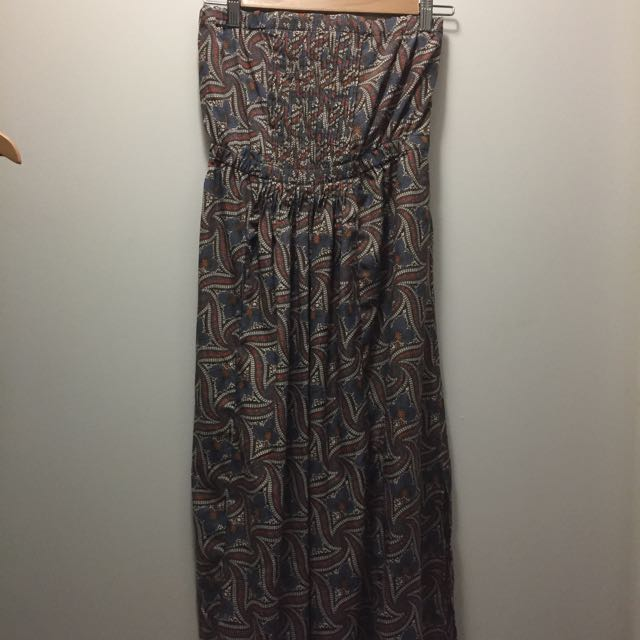 Long Floral Patterned Dress