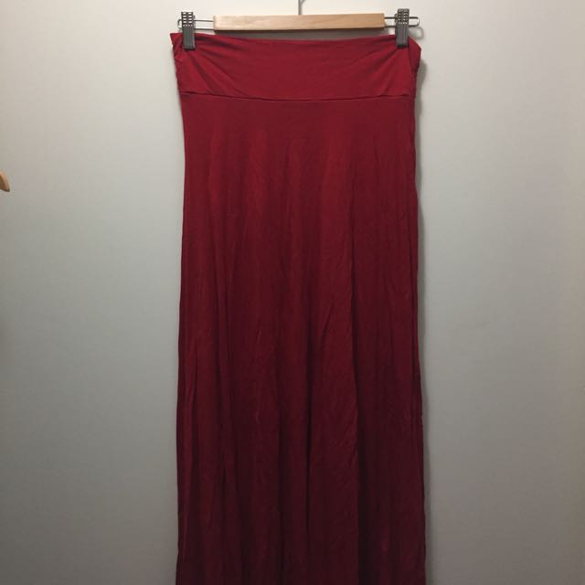Long Red Skirt