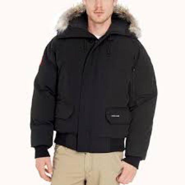 Men's CANADA GOOSE bomber Jacket-black