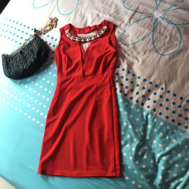 Mini Dress Red