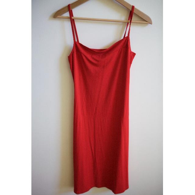 MM SOHN Red Slip Dress - Size 8