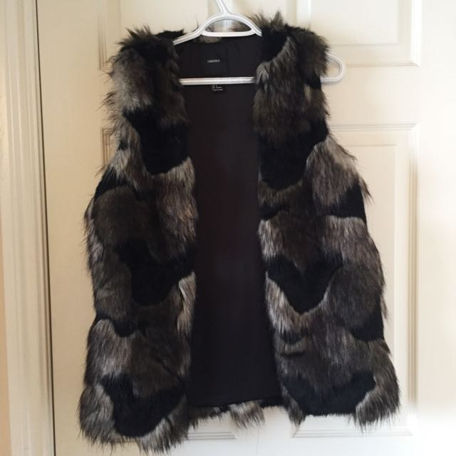 Multicoloured Faux Fur Vest