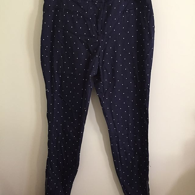 Navy Star Pants