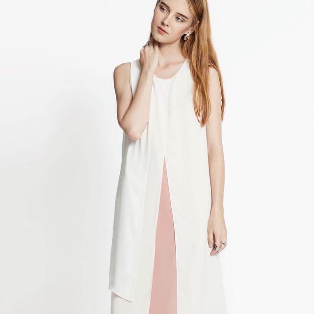 Pomelo Fashion Avory Layered Sleeveless Dress - Pink, Women\'s ...