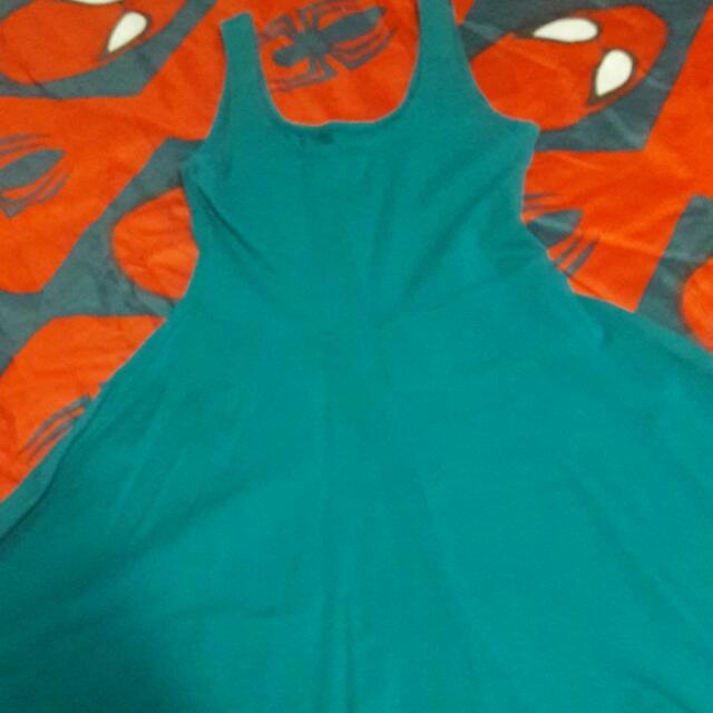 Preloved Dress Blue/green Color