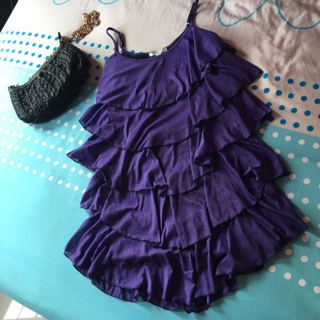 Purple Mini Dress Magnolia
