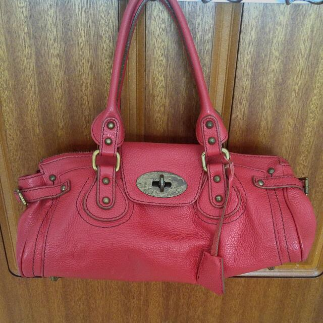 Rabeanco Vintage Red Leather Handbag