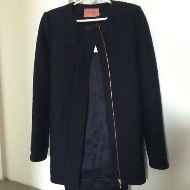 Rodeo Show Lucia Quilted Navy Coat