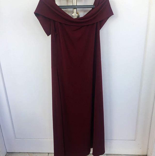 SABRINA DRESS MAROON