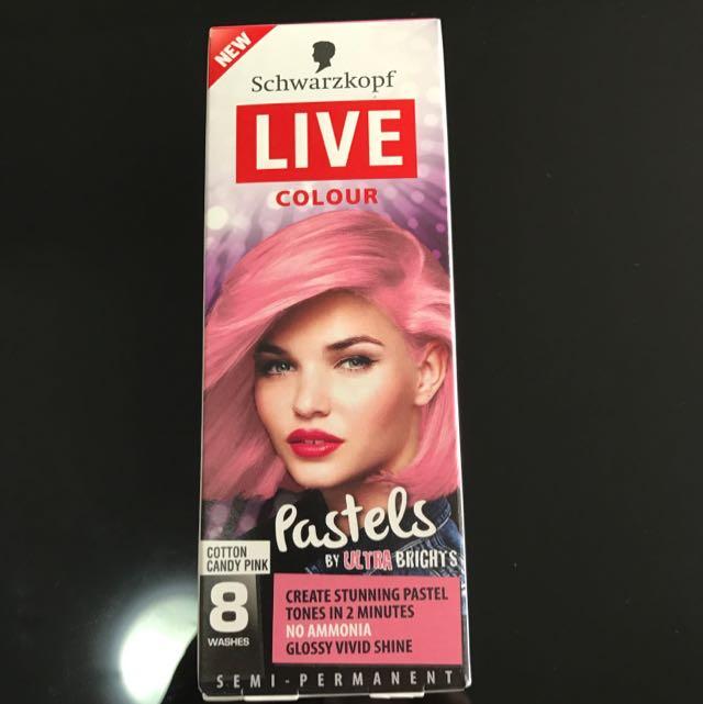 Schwarzkopf Live Colour Hair Dye Pink Pastel