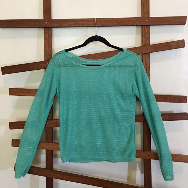 Sheer Aqua Sweater
