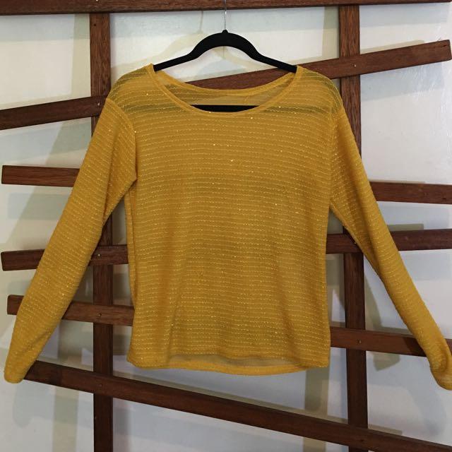 Sheer Yellow Sweater