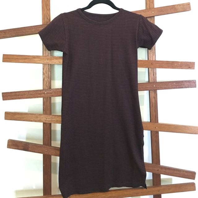 Stripe Bodycon Tshirt Dress