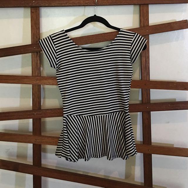 Stripes Peplum Top