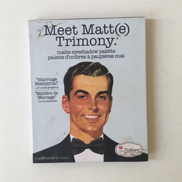 The Balm - Meet Matte Trimony AUTHENTIC