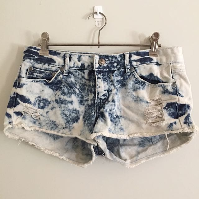 Tiedye Denim Shorts