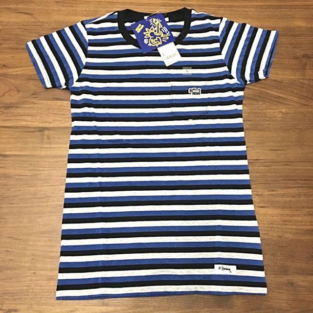 👕UNIQLO 休閒條紋上衣(藍)