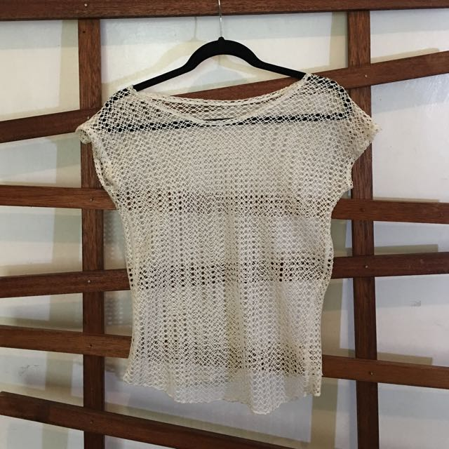 White Net Top