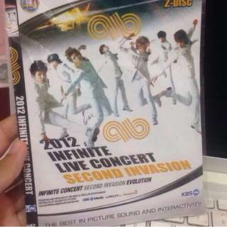 Infinte 2012 Live Concerr - 2nd Invasion Unofficial Dvd