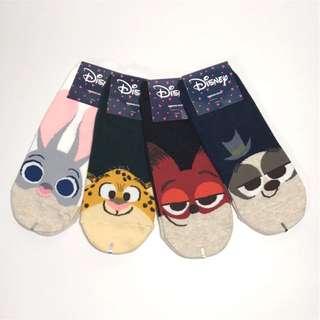 韓國帶回動物方城市 Zootopia直板襪 短襪