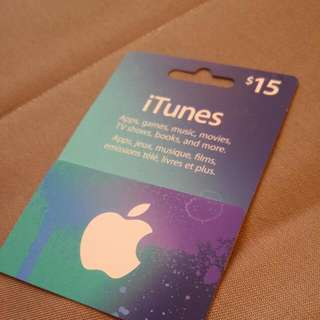 $15 Itunes Giftcard