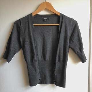 Sirens Dark Grey Crop Cardigan