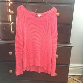 Bright Pink H&M Sweater