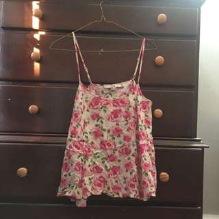 Floral Forever 21 Tank top