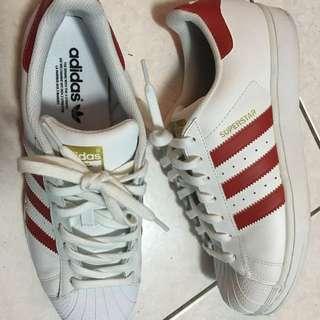 Adidas Superstar Orginal Red White
