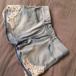 Faded Jean Shorts