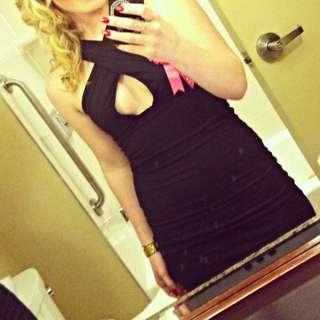 Black Mini Dress.