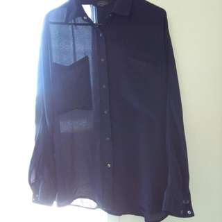 Chiffon see through glassons top - size 12 - $5