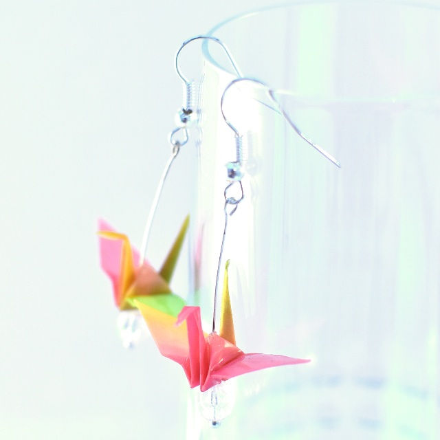 05 Beautiful Origami Paper Crane Earrings