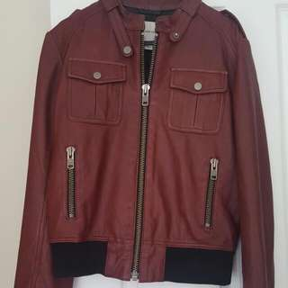 Country Road 100% Leather Jacket