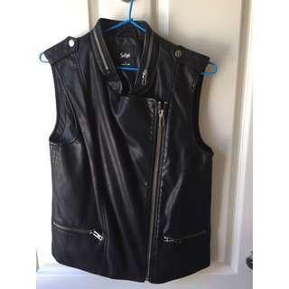 Sportsgirl Leather Look Biker Best Size 10