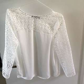 Zara Medium Chiffon Lace Top