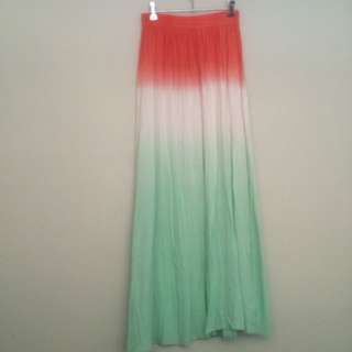 Tri-tone Maxi Skirt