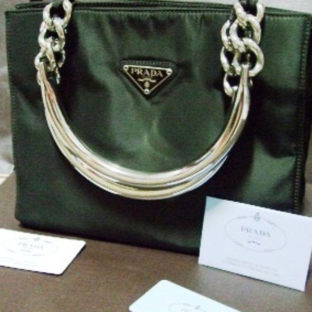 100% real 限量black Prada milino chain bag handbag bag 鐵鏈手袋 ... 9ebfbcbb9deec