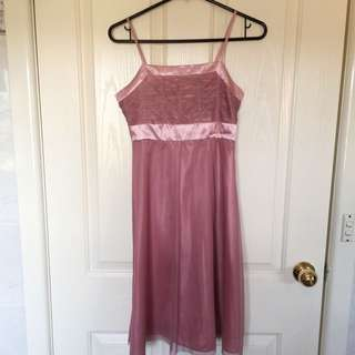 Mauve Pink Semi- Formal Dress