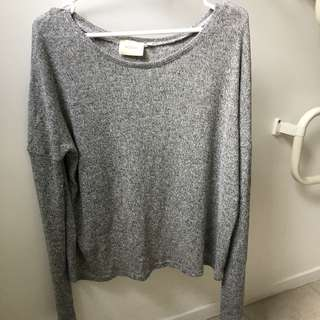 Goldie: Grey Long Sleeve Top