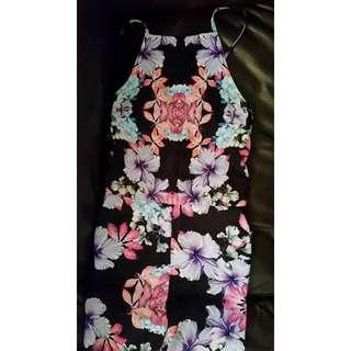 Size 8 Colourful Floral Pant Jumpsuit