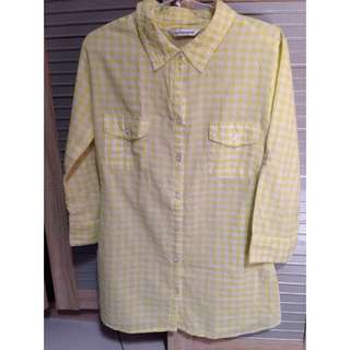 Plaid Yellow Shirt