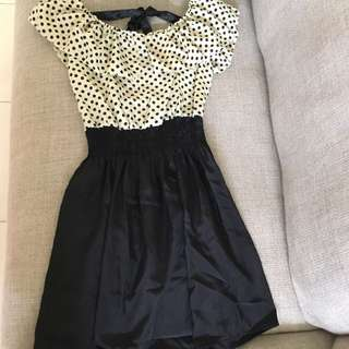 Polkadot Black Dress