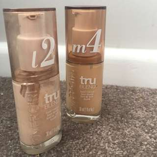 2 x Covergirl Trublend Foundation 2 And 4