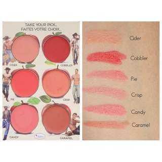 the balm how bout them apples Lip and cheek cream palette