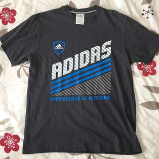 Adidas Grey Casual T-Shirt