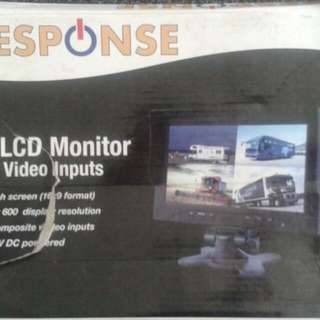 "9"" LCD Monitor w/4 Video Inputs"