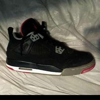 Jordan 4 Bred Size 6y